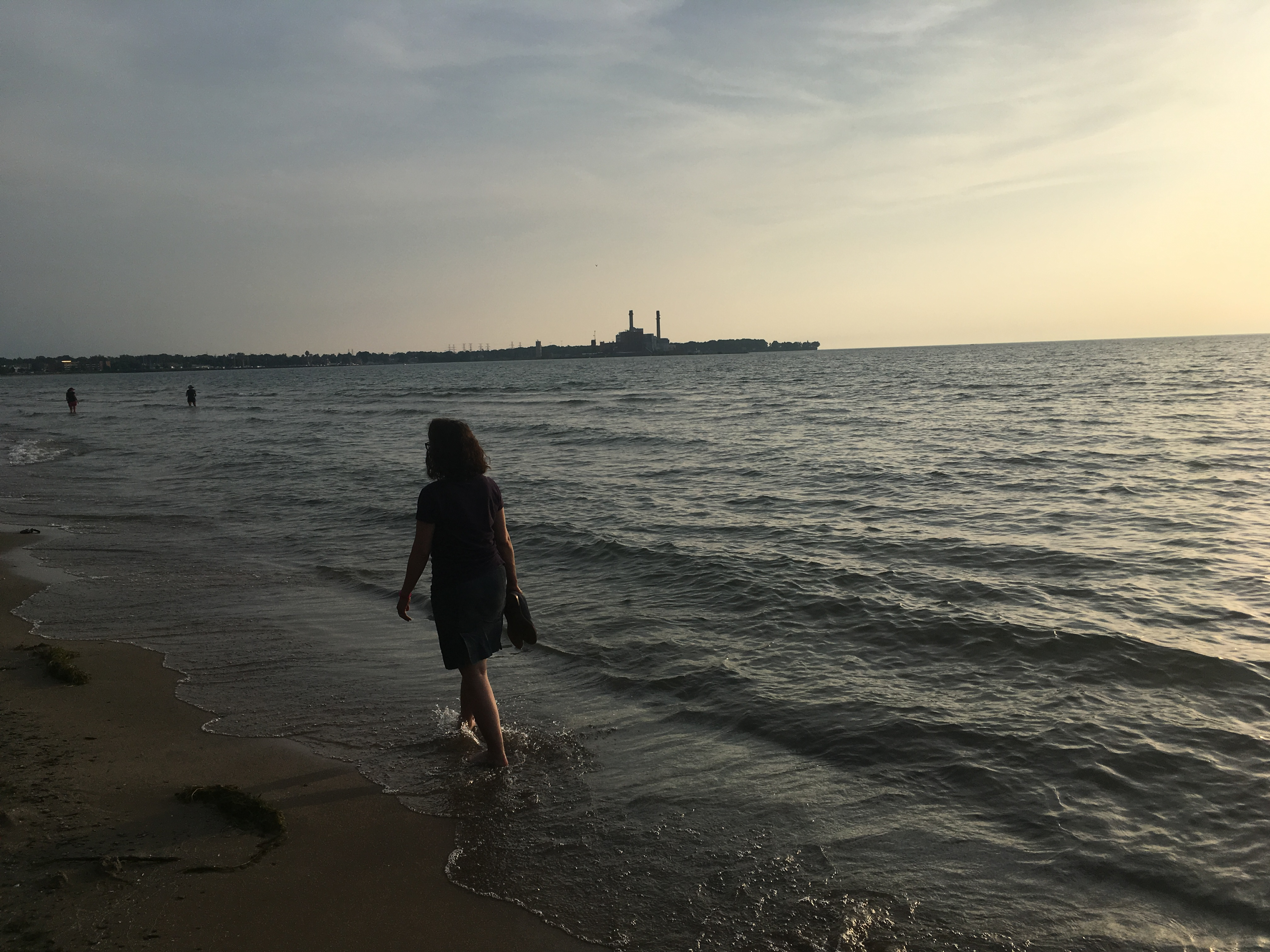 Walking along Lake Erie in Dunkirk